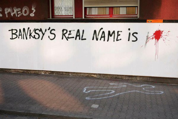 """Banksy's real name is..."" by MTO"