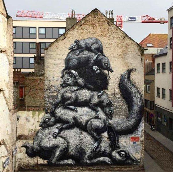 ROA @Ostenda, Belgio