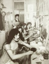 The dressing room at the Moulin Rouge, 1924