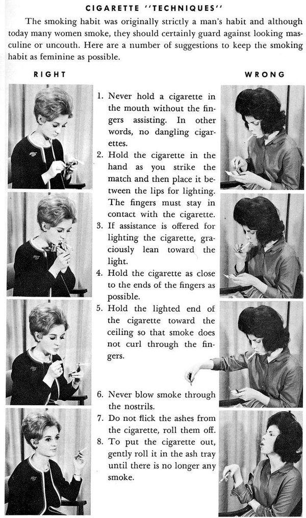 Il manuale della perfetta fumatrice