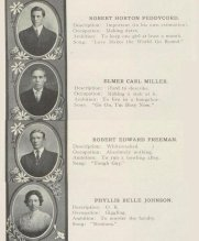 Una manciata di citazioni di alto livello da un annuario 1911 di scuola superiore