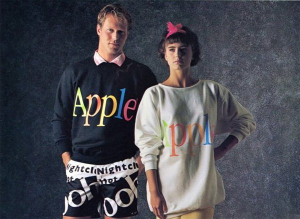 Linea di abbigliamento Apple, 1986. Dalla The Apple Collection