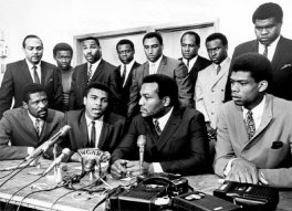 Bill Russell, Muhammad Ali, Jim Brown, Kareem Abdul-Jabbar alla Black Economic Union a Cleveland 1967