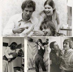 Collezione privata di foto di Carrie Fisher prese durante le riprese di Star Wars