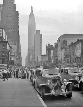Taxi su 34th strada, New York, 1938