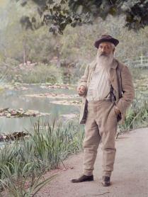 Claude Monet nel suo giardino a Giverny, estate 1905