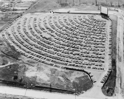 Drive-in, South Bend Indiana, 1950