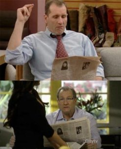 Ed O'Neill ha letto lo stesso giornale per 20 anni, in Married with Children e Modern Family