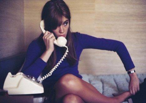 Francoise Hardy al telefono
