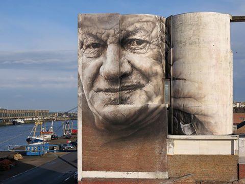 Guido Van Helten @Oostende, Belgio