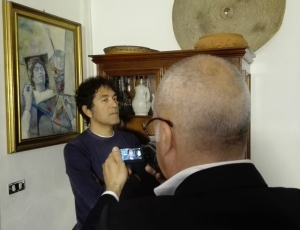 I 5 sensi dell'arte (backstage) - Salvatore Garau