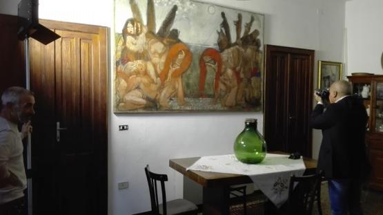I 5 sensi dell'arte (backstage) - Salvatore Garau