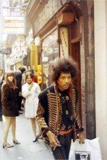 Jimi Hendrix in Carnaby Street 1967