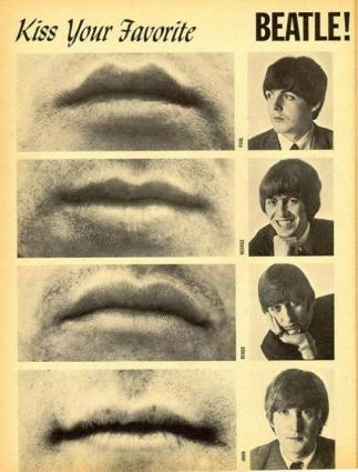 Kiss Your Favorite Beatle! 16 Magazine, 1965