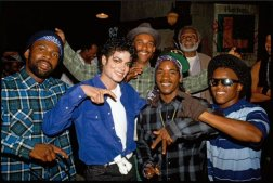 Michael Jackson e i L.A. Crips sul set di 'The Way You Make Me Feel'