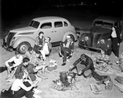 Picnic a Huntington Beach, California, 1937