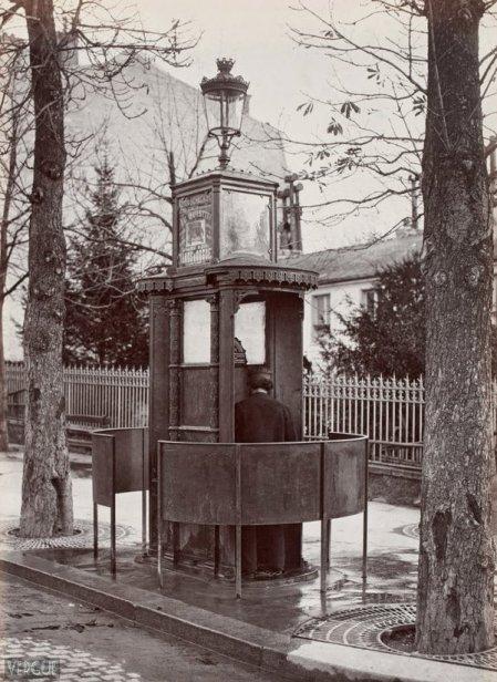 Orinatoio pubblico, Ground la Muette, a Parigi ca. 1875