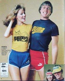 Pubblicità catalogo Activewear Puma, 1981