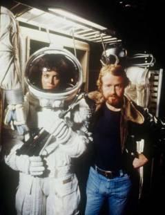 Sigourney Weaver e Ridley Scott sul set di Alien 1978