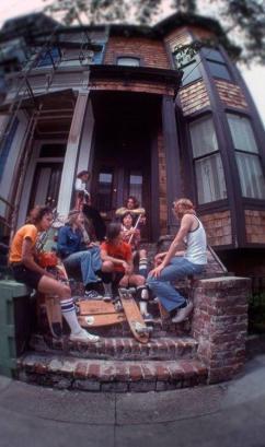 Skateboarders in San Francisco, 1977