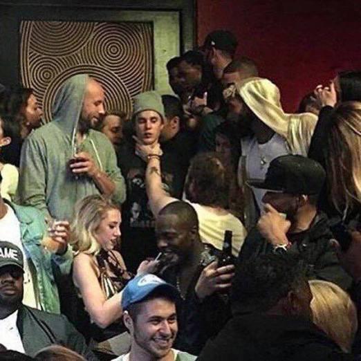 Justin Bieber in un night club di Houston