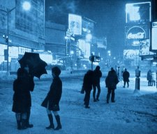 Times Square e la neve, NYC, circa 1960