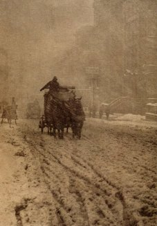 Inverno sulla Fifth Avenue, New York, 1892
