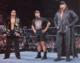 WWE Attitude Era The Rock, Stone Cold Steve Austin e Undertaker