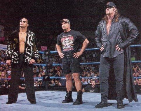 WWE Attitude Era The Rock, Stone Cold Steve Austin e Undertaker