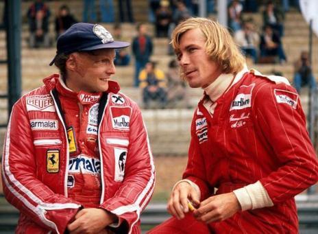 Formula 1 - i rivali e amici James Hunt e Niki Lauda, 1976