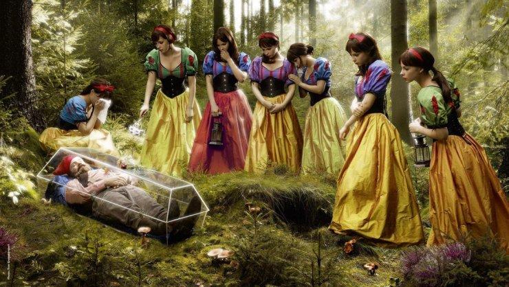 Il nano e le sette Biancaneve (autore sconosciuto)