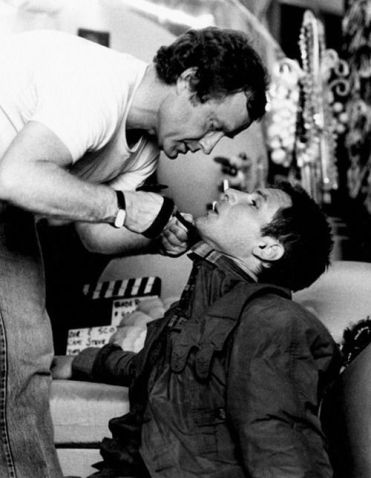 Ridley Scott con Harrison Ford sul set di Blade Runner