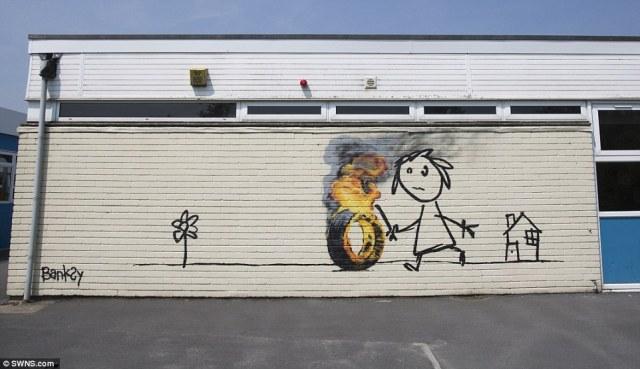 Streetart News [wall 497] – Banksy a Bristol