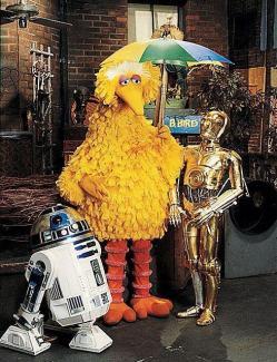 R2-D2 e C-3PO visitano Sesame Street, 1979