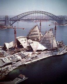 Sydney Opera House in costruzione, 1966