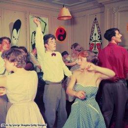 Una festa alla Cambridge University a base di swing, 1954