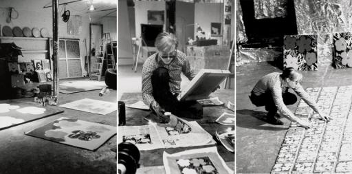 Andy Warhol con 'Flowers' alla Factory