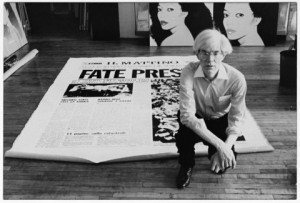 Andy Warhol, Fate Presto, 1981 – acrylic and silkscreen ink on canvas, three panels. Palazzo Reale di Caserta – Collezione Terrae Motus