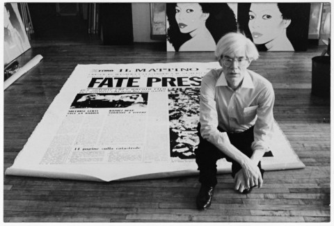 Andy Warhol, Fate Presto, 1981 – acrylic and silkscreen ink on canvas, three panels. Palazzo Reale di Caserta – Collezione Terrae Motus