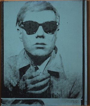 Andy Warhol, Self-Portrait, 1964, synthetic polymer paint and silkscreen ink on canvas, 20 × 16 inches (50.8 × 40.6 cm)