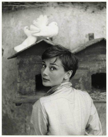 Audrey Hepburn, 1955. Fotohrafia di Philippe Halsman