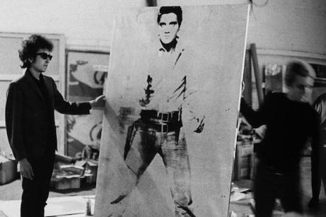 Bob Dylan con Double Elvis di Andy Warhol