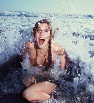 Carrie Fisher che promuove ''Return of the Jedi'' nel Rolling Stone Magazine, 1983