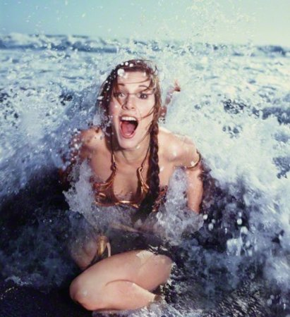 Carrie Fisher che promuove ''Return of the Jedi'' nel Rolling Stone Magazine, 1983
