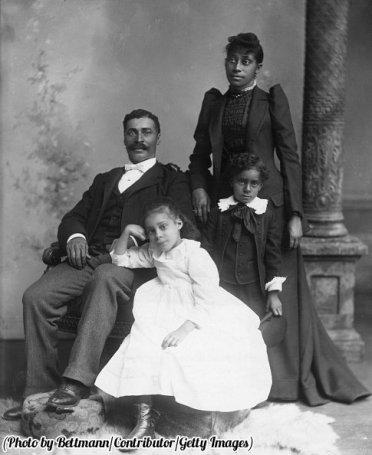 Washington, D.C. coppia coi due figli Circa 1900