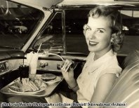 Drive-in eating, circa 1952