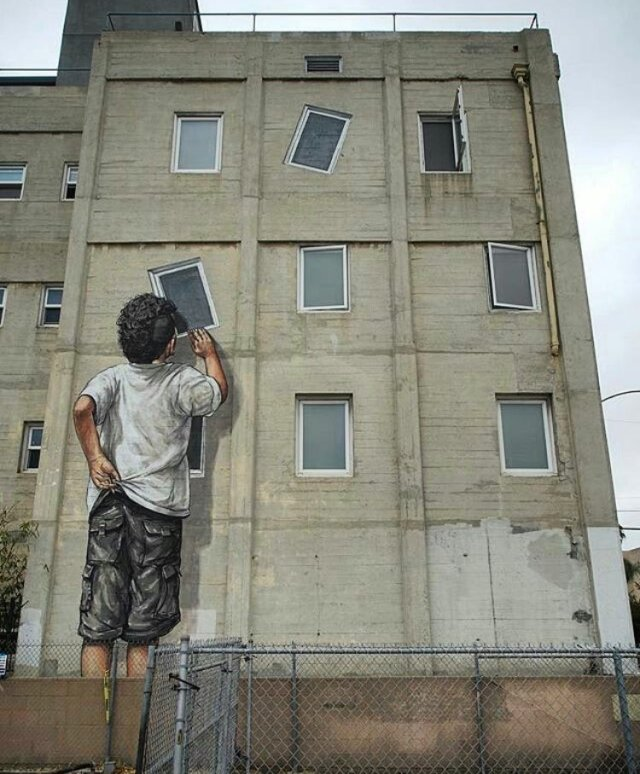 Ernest Zacharevic @Long Island, California (USA)