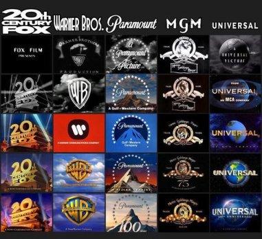 Evoluzione del logo delle aziende produttrici di film