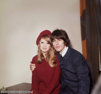 George Harrison e sua moglie Pattie Boyd, 1966