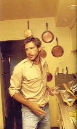 Harrison Ford in una cucina alla fine degli anni '70